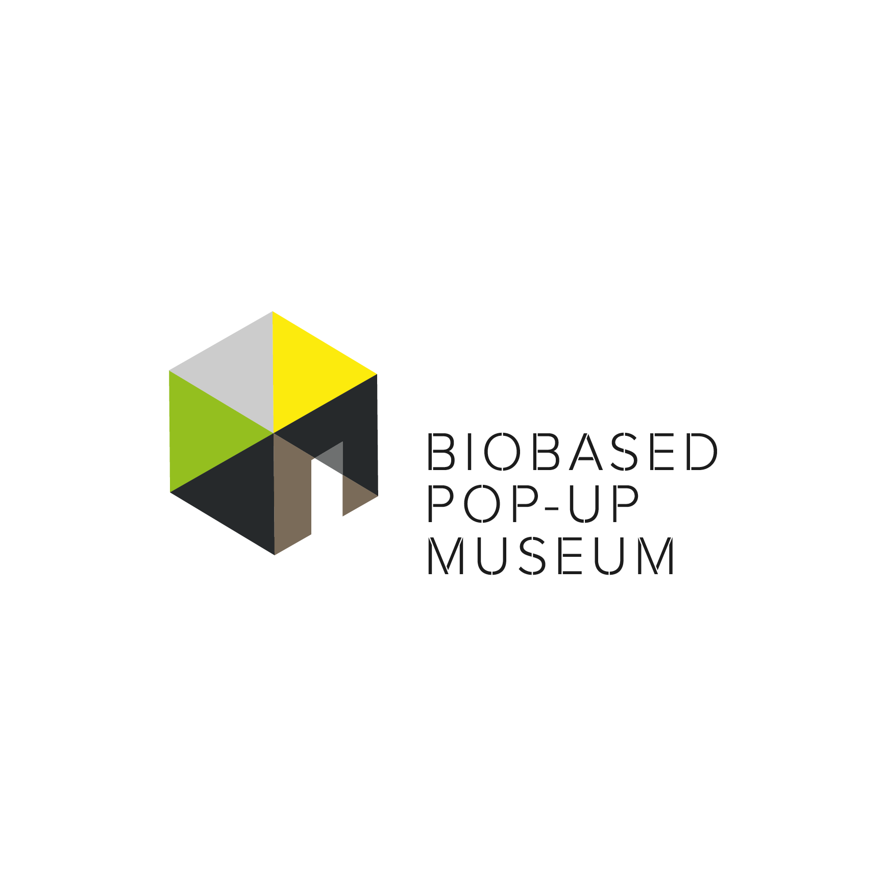 Bio Based pop-up museum expositie huisstijl