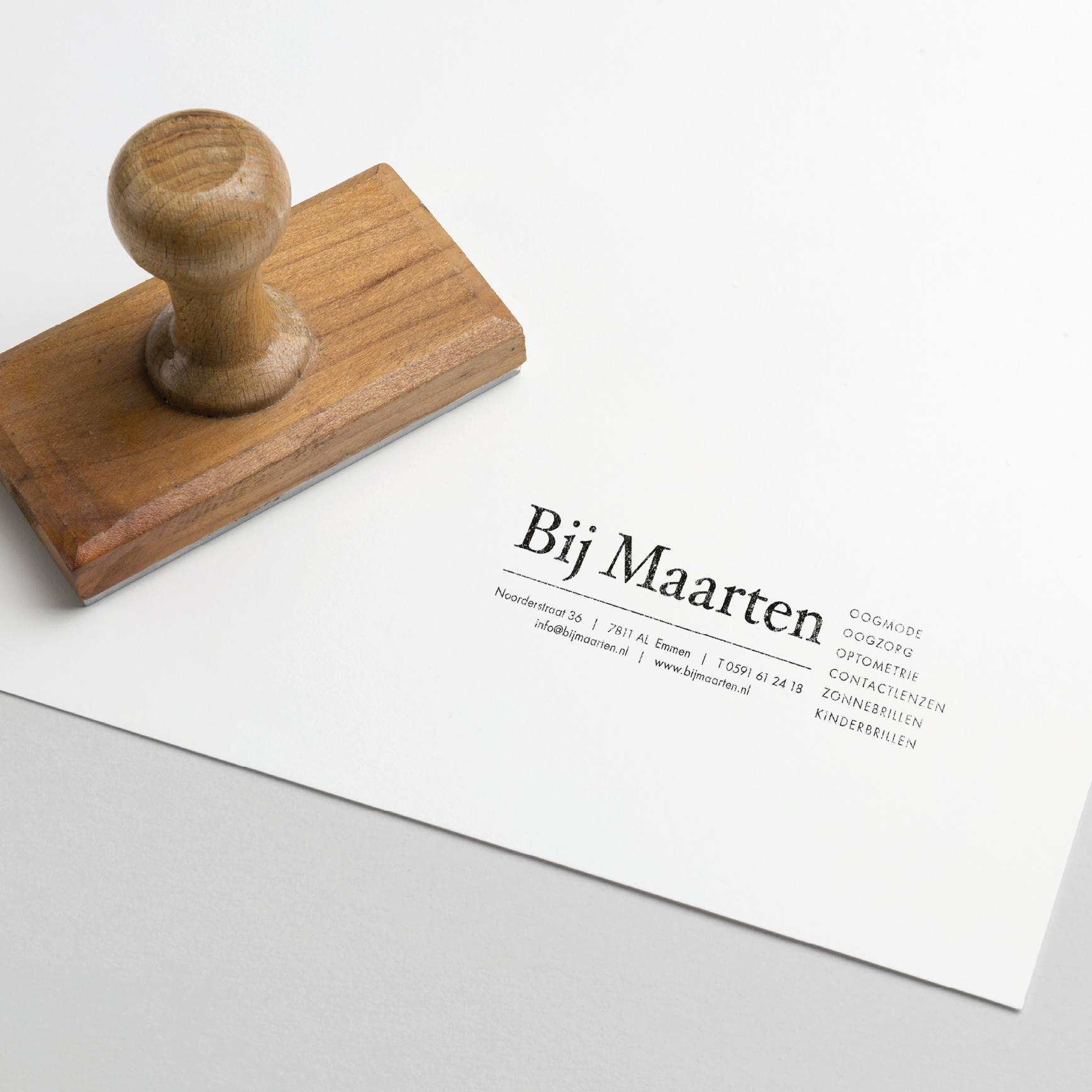 Bij Maarten Optiek Huisstijl Grafisch ontwerp